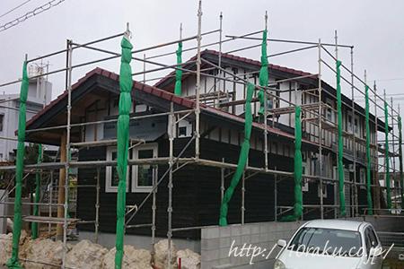 木造2階建て現場