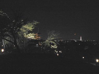 八坂の塔と三日月