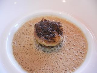 セップ茸と栗のカプチーノ・スープ