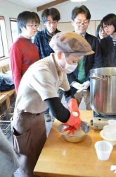 モッモッツァレラチーズ造り体験2@湖華舞さま