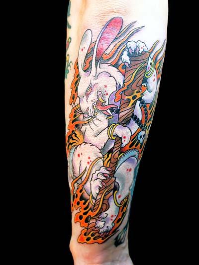 SO・兎・赤兎刺青