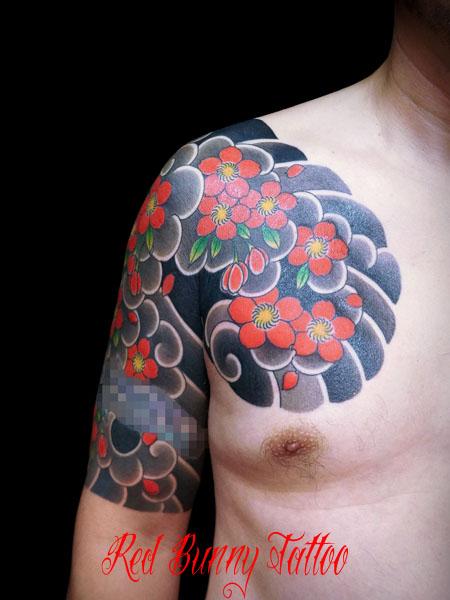 桜散らし・桜吹雪 刺青・和彫りの画像・デザイン