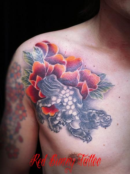 唐獅子牡丹 刺青・和彫り・タトゥーデザイン
