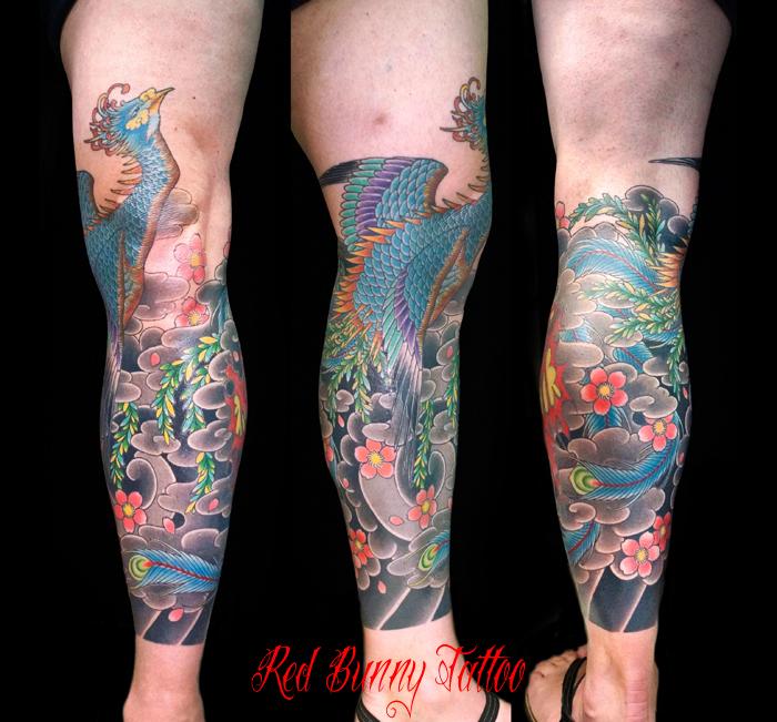 鳳凰 刺青 タトゥーデザイン 和彫り