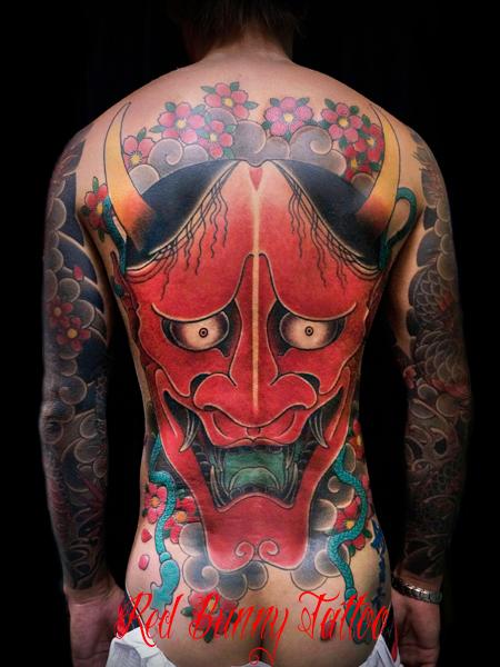 般若 刺青 和彫り 背中一面 東京 吉祥寺