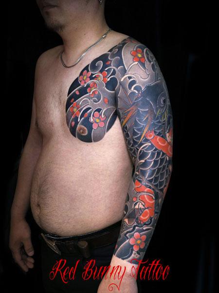 金太郎 抱き鯉 刺青 和彫り 東京