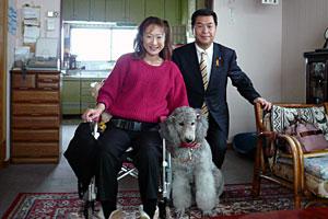 三上昌代さんを介助する「ジルバ」、そして私