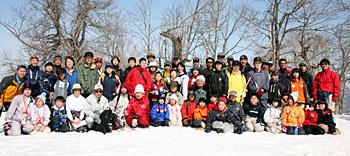 士風山登山会での集合写真