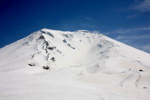 旭岳の全景
