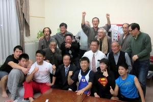 天塩川塾生とウエリフ日本代表選手で記念撮影