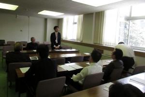 JR北海道問題についてお話しする中野氏