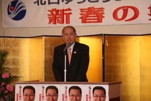 牧野勇司士別市長から激励のあいさつ