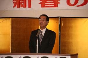 渡辺明彦上川総合振興局長から激励のあいさつ
