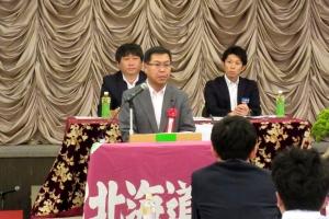 JR北海道労組旭川地方本部定期大会で挨拶