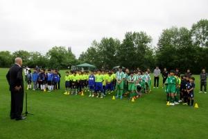 第2回アジア交流サッカー士別大会の開会式