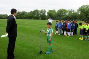 選手宣誓をするベトナムの選手