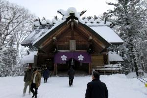 歳旦祭が行われた士別神社社殿