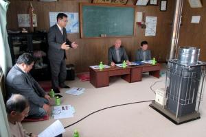 多寄農連の地区別懇談会で農業の課題をお話しする