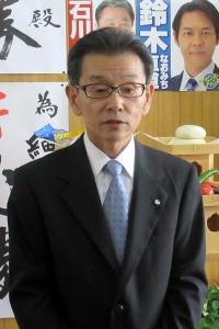2期目の決意を語る細川町長