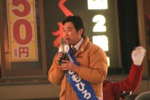 最後まで政策を訴える石川ともひろ知事候補