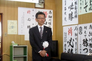2期目の決意を語る細川幌加内町長
