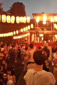 浄土寺での盆踊り大会