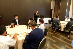 北海道農民連盟移動執行委員会懇談会に出席