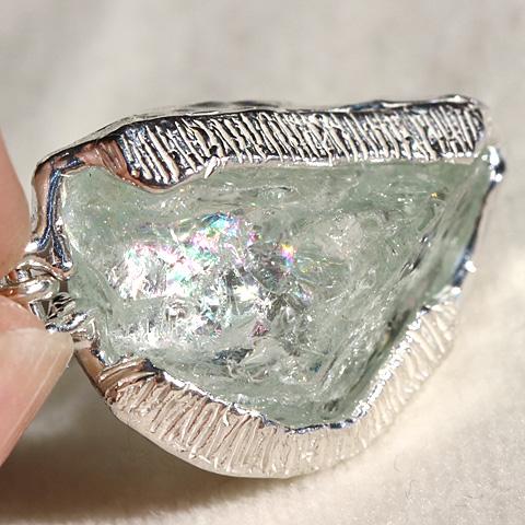 アクアマリン原石ネックレス