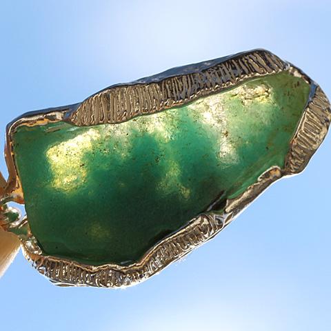 ジェムシリカ原石ネックレス
