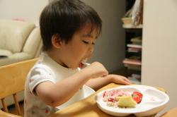 ケーキ、おいし〜♪