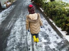 雪道、楽しい〜☆