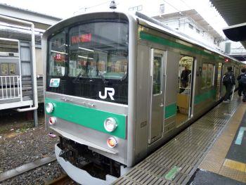 埼京線in川越駅