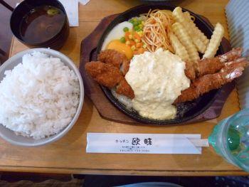 キッチン欧味の海老フライ