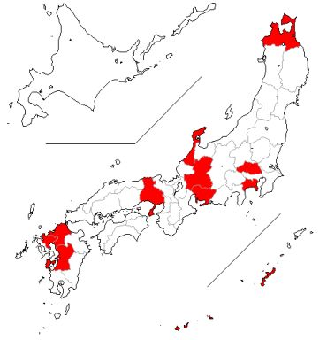 献血マップ 2012/9