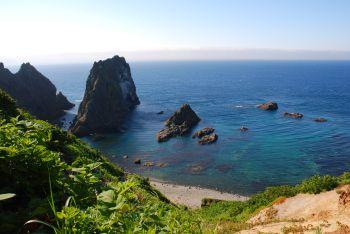 目の前に広がる海岸