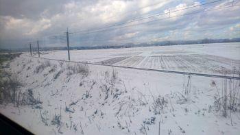 雪景色のち海景色
