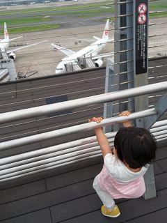 羽田空港展望デッキに到着