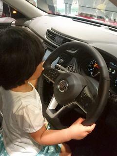 運転に興味?