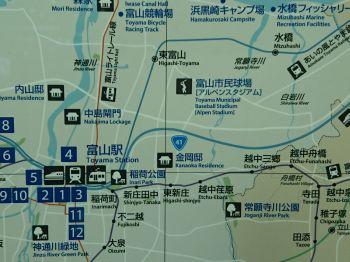 富山駅付近の地図