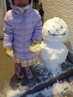 雪だるまを作った
