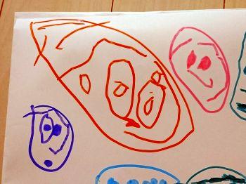 娘が描いた家族の絵