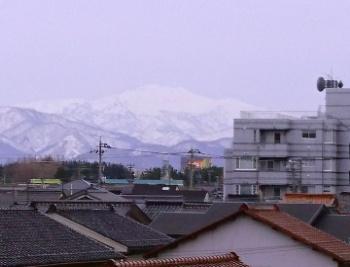 白山もきれいに見えます