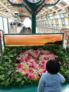 藤沢駅の花時計