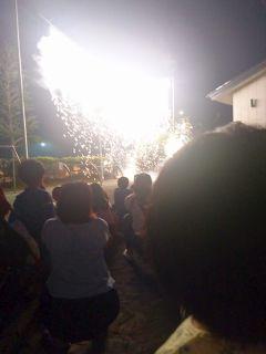 幼稚園の花火大会