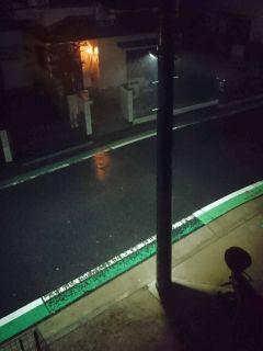 すごい雨風