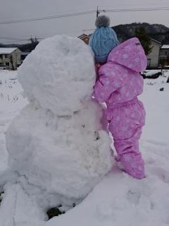 雪だるま完成!