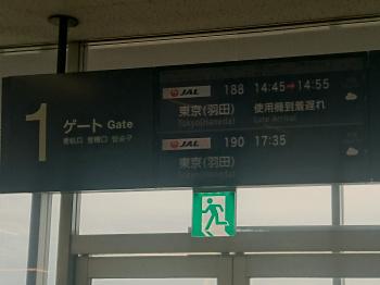 羽田行きにて戻ります