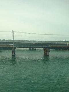 浜名湖あたりから天気よくなりました