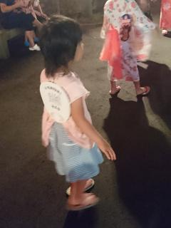 盆踊りも一周踊りました
