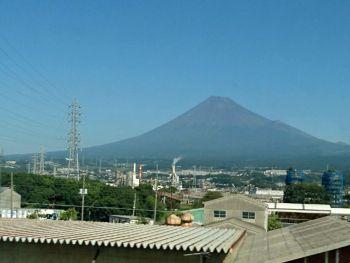 富士山がきれいに見えました